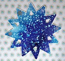 Різдвяна зірка двостороння