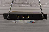 Беспроводная радиосистема на два микрофона (AKG KM-388 беспроводной караоке микрофон), фото 4