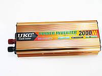 Преобразователь напряжения  UKC 24V-220V 2000W Gold инвертор