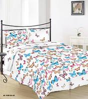 Постельное белье Бязь МОТЫЛЕК Комплект постельного белья полутороспальный, евро, двуспальный