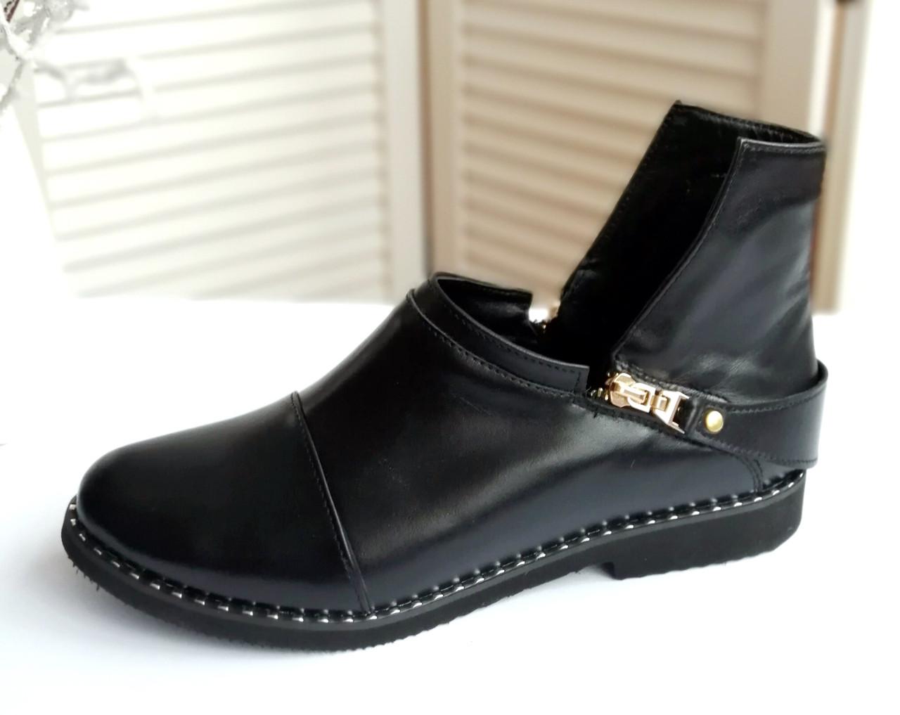 Женские кожаные полу ботинки от производителя VISTANI