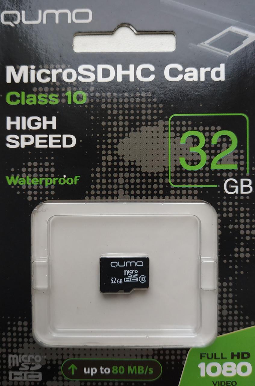 Карта памяти микро SDHC Qumo 32 гб класс 10 без адаптера