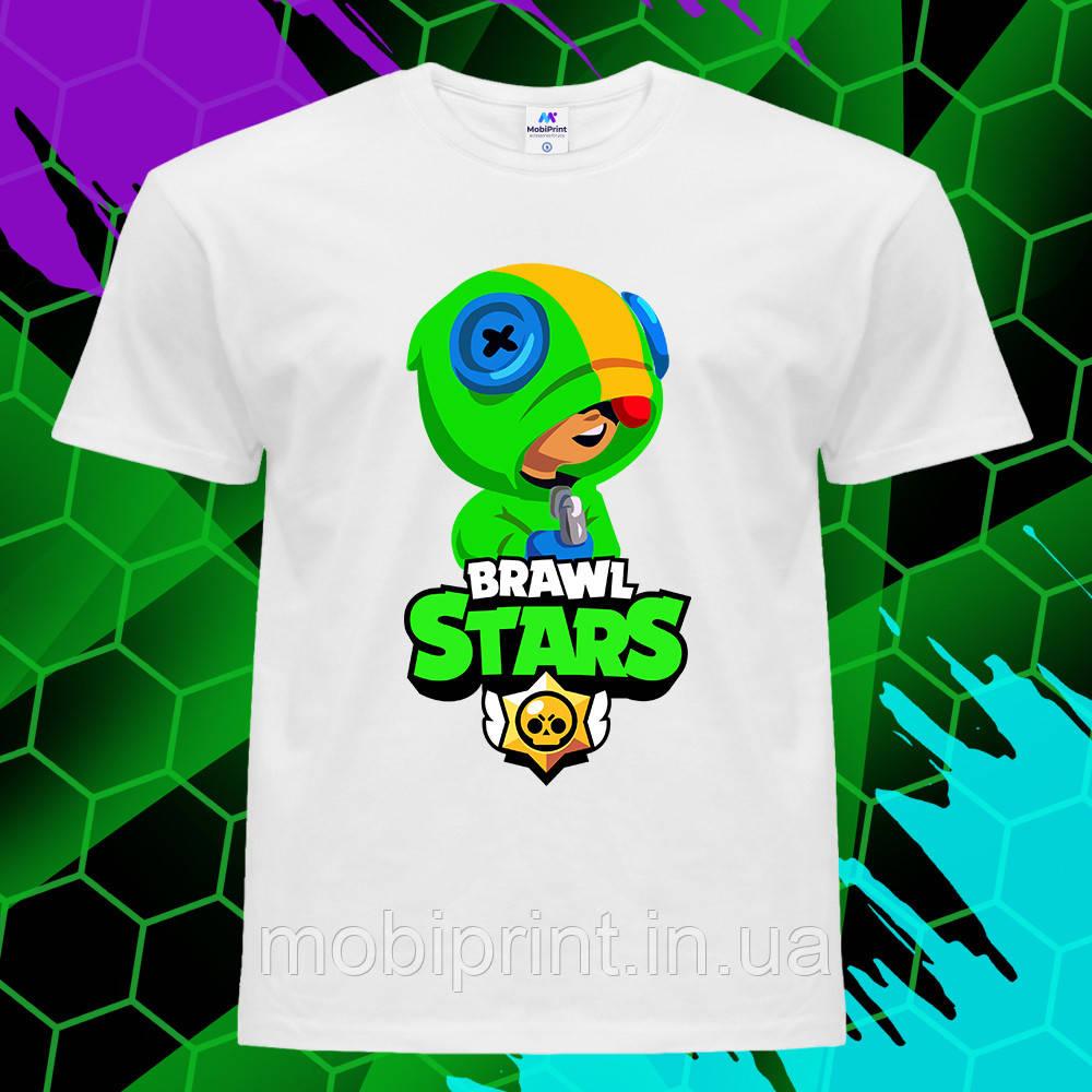 Детская футболка Леон Бравл Старс (Leon Brawl stars) (255)