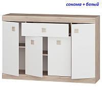 Большой комод с дверями и ящиком Соната-7