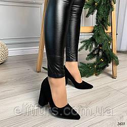 Туфли элегантные с узким носиком, эко-замш