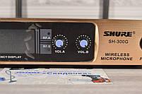 Радиосистема на 2 микрофона + дисплей (DM SH 300G/3G SHURE беспроводной караоке микрофон), фото 3