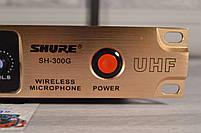 Радиосистема на 2 микрофона + дисплей (DM SH 300G/3G SHURE беспроводной караоке микрофон), фото 4