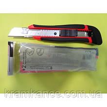 Нож канцелярский лезвие 18мм Norma 4512 металлическая направляющая + 2 лезвия