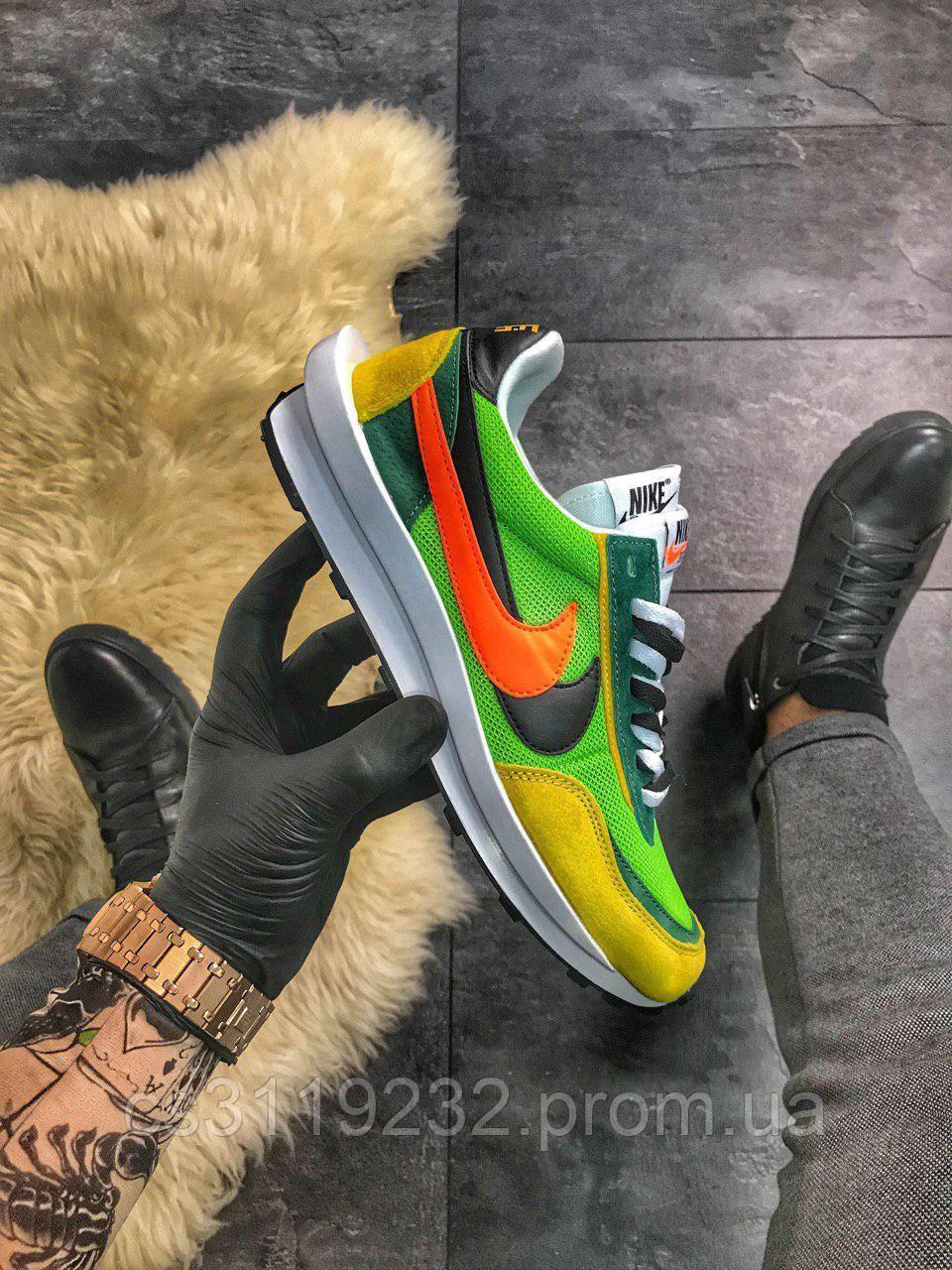 Мужские кроссовки Nike LD Waffle Sacai Green
