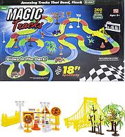 Magic Tracks ДВА Джипа 360 деталей с мостом. Детская гибкая дорога.