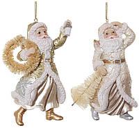 Санта золотистий мікс з вінком/ялинкою мікс 11см