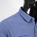 Сорочка чоловіча, приталена (Slim Fit), з довгим рукавом Bagarda BG6616-02 INIGO 93% бавовна 7% еластан L(Р), фото 2