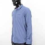Сорочка чоловіча, приталена (Slim Fit), з довгим рукавом Bagarda BG6616-02 INIGO 93% бавовна 7% еластан L(Р), фото 3