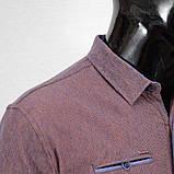Сорочка чоловіча, приталена (Slim Fit), з довгим рукавом Bagarda JP2721 NAVY-ORANGE 93% бавовна 7% еластан, фото 2