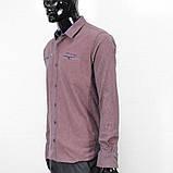 Сорочка чоловіча, приталена (Slim Fit), з довгим рукавом Bagarda JP2721 NAVY-ORANGE 93% бавовна 7% еластан, фото 3