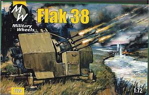 Сборная модель немецкой зенитной пушки FLAK-38 в масштабе 1/72. MILITARY WHEELS 7224