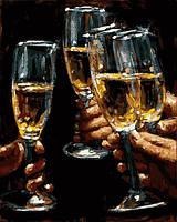 Картина по номерам Mariposa Бокалы белого вина (MR-Q2220) 40 х 50 см