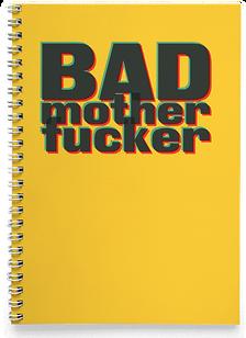 Блокнот Тетрадь Bad Mother Fucker