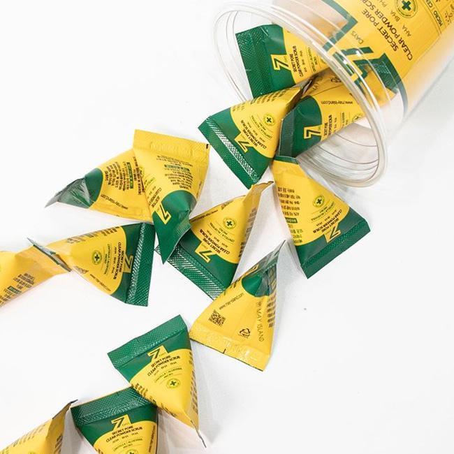 Пилинг - скраб для очищения пор с центеллой и кислотами May Island Secret Pore Clear Powder Scrub 5г Корея