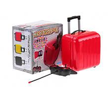 Небольшой дорожный чемодан с пультом красный
