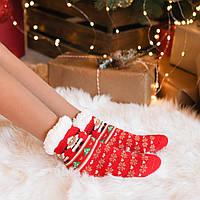 Підросткові новорічні  шкарпетки (на флісі)
