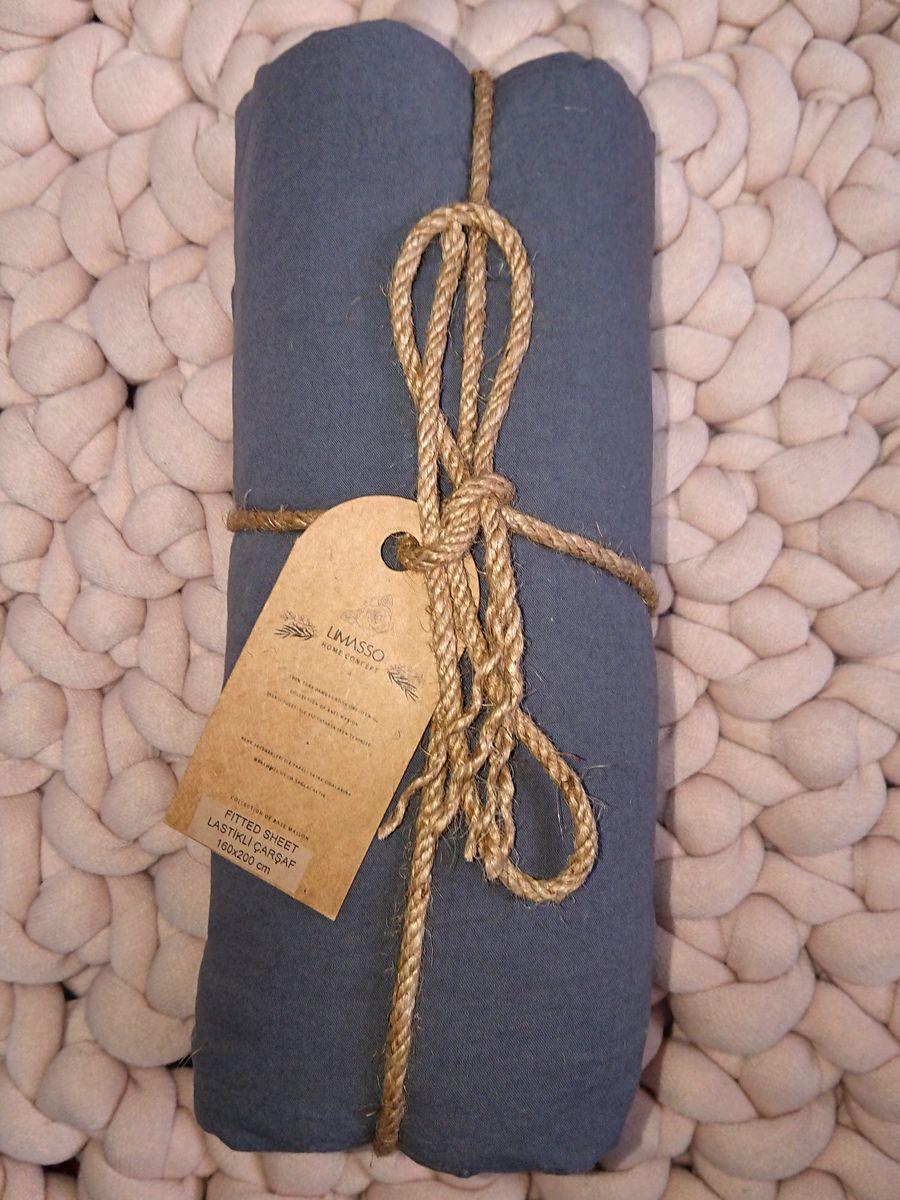 Простынь на резинке 180х200х30 LIMASSO CASTLEROCK темно-серая