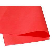 Фоамиран зефирный флористический 50х50 см, красный