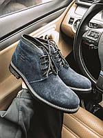 Мужские зимние ботинки серые замша Lg8, фото 1
