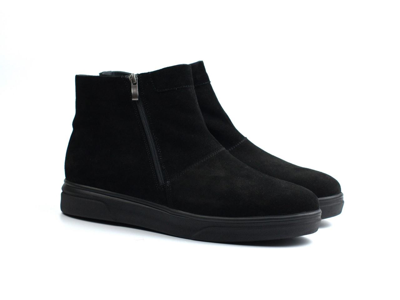 Зимние ботинки нубуковые угги на меху мужская обувь Rosso Avangard Y-G Black Night Vel