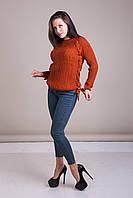 Светр жіночий в'язаний шнурівка Туреччина, фото 3