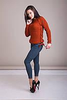 Светр жіночий в'язаний шнурівка Туреччина, фото 5