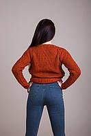Светр жіночий в'язаний шнурівка Туреччина, фото 6