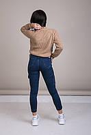 Светр жіночий в'язаний шнурівка з металевими кільцями Туреччина, фото 3