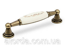Ручка меблева GIFF UP213/96 Антична бронза/фарфор