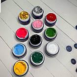 Гель фарба для стемпинга, аєропуффинга, тонких прорісовок ,Колір - блакитний. Є опт, фото 3