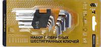 Набор Г-образных шестигранных ключей - 9шт СRV, 1,5-10,0мм