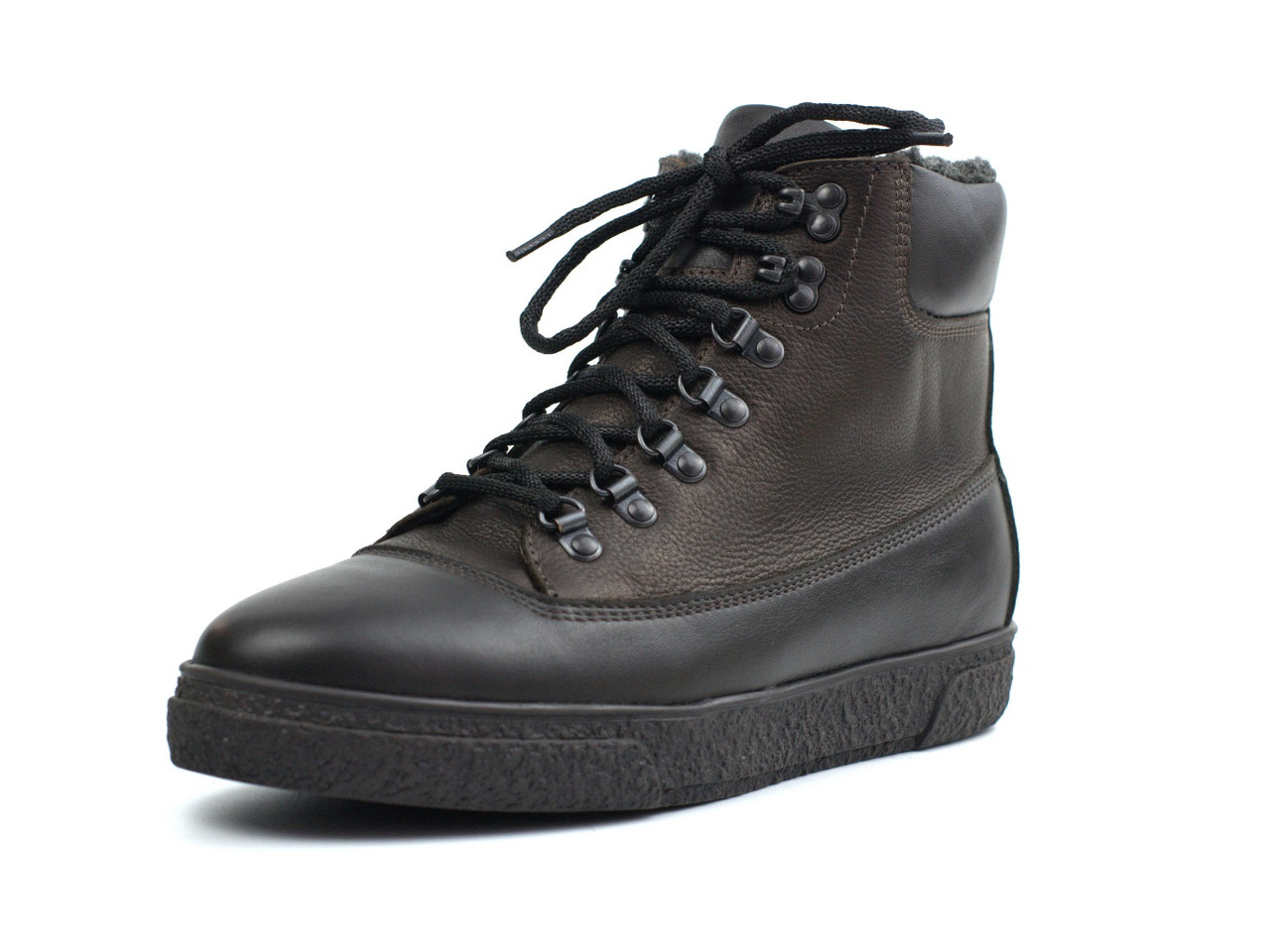 Зимние ботинки кожаные коричневые на меху мужская обувь Rosso Avangard Taiga North Lion