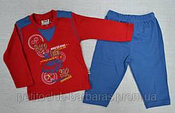 Дитяча піжама для хлопчика Race червона/голуб (OZTAS, Туреччина)