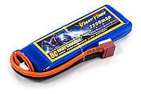 Аккумулятор для страйкбола Giant Power Li-Pol 7.4V 2S 2200mAh 25C 16х33х102мм T-Plug