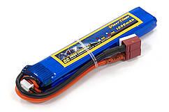 Аккумулятор для страйкбола Giant Power (Dinogy) Li-Pol 7.4V 2S 1000mAh 25C 11.5х20х103мм T-Plug