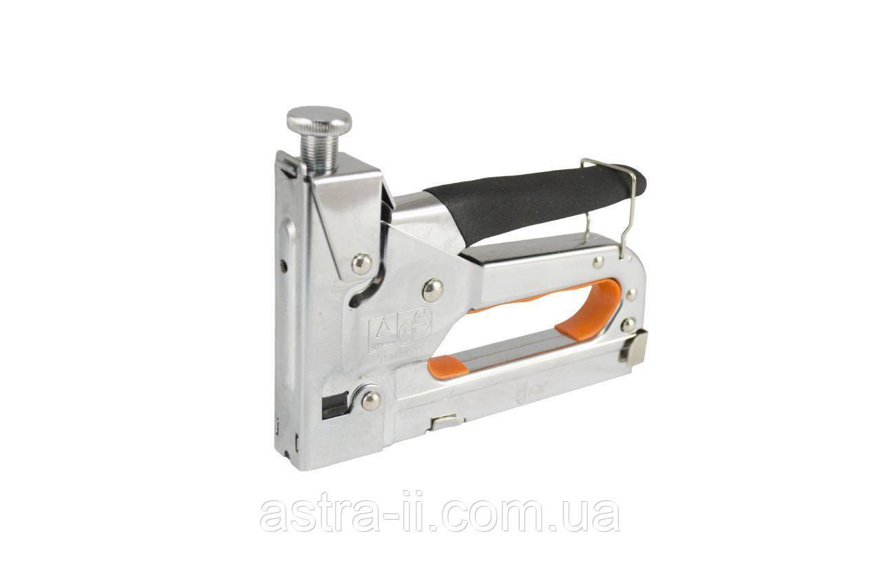 Степлер профи, усиленный, 4-14мм, с регулятором, Cr (хромированный) металлический корпус