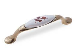 Ручка меблева GIFF UP192/96 Антична бронза/фарфор