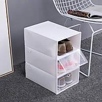 Складной пластиковый органайзер контейнер для хранения обуви
