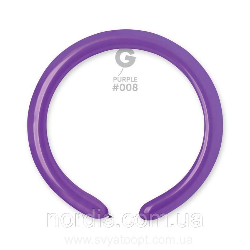 """Шары  D4/09 2х55""""/5х140 см.Фиолетовый 08-10 шт."""