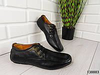 """Туфли, в спортивном стиле черные """"Jombo"""" эко кожа, повседневная, удобная, весенняя, мужская обувь"""