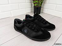 """Кроссовки, мокасины, кеды черные """"Devine"""" эко замша, повседневная, удобная, весенняя, мужская обувь"""