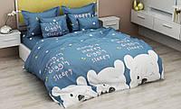 """Полуторный комплект постельного белья 147х217 из бязи Голд """"Счастливый мишка"""""""