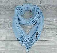Демисезонный тонкий кашемировый шарф, палантин Ozsoy 7180-19 небесный, Турция, фото 1
