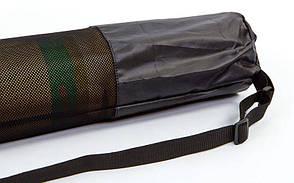 Чохол для йога килимка SP-Planeta DR-5375 (розмір 16смх70см, оксфорд, чорний), фото 2
