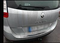 Накладка на задний бампер Renault Scenic III 2009-2016 с загибом